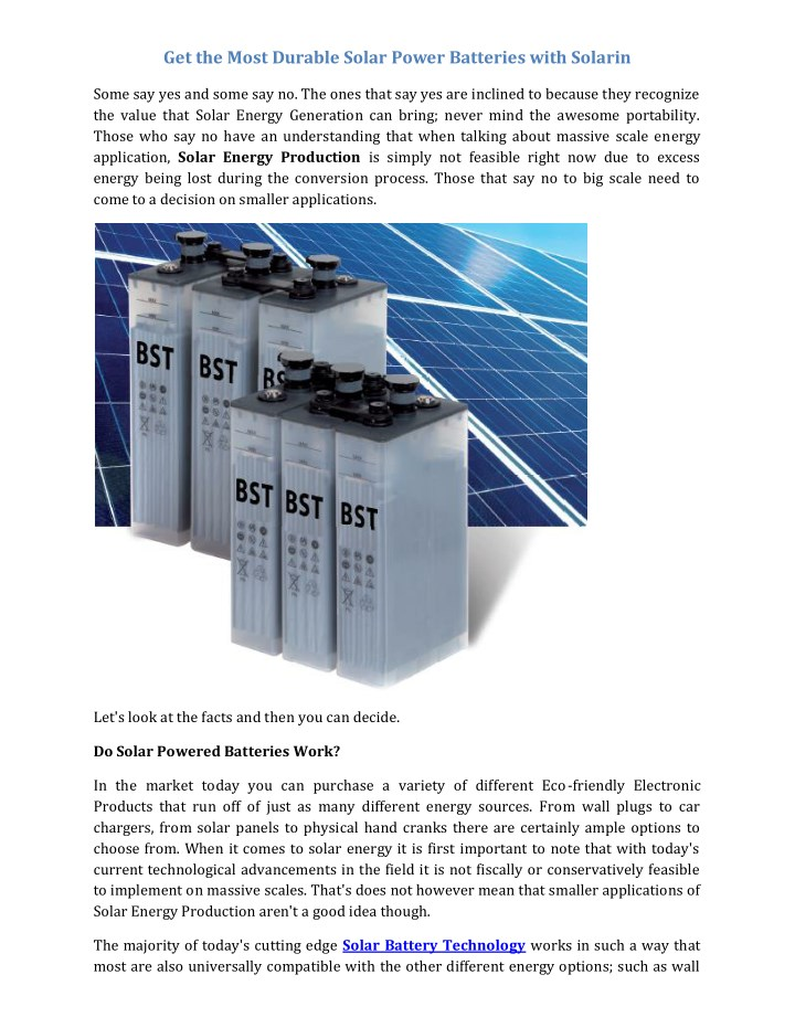 get the most durable solar power batteries with n.