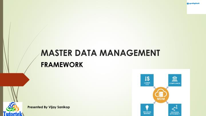 master data management n.