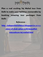 plan a real exciting taj mahal tour from