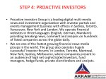 step 4 proactive investors