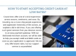 how to start accepting credit cards at low rates