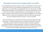 process of apply for a merchant account