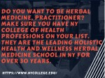 do you want to be herbal medicine practitioner