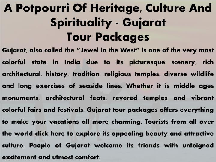 a potpourri of heritage culture and spirituality n.