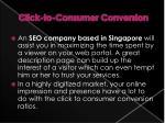 click to consumer conversion