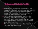 enhanced website traffic
