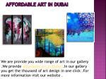 affordable art in dubai