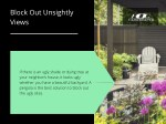 block out unsightly views