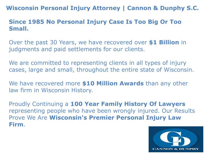 wisconsin personal injury attorney cannon dunphy n.