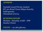 address tanishk lexsol private limited