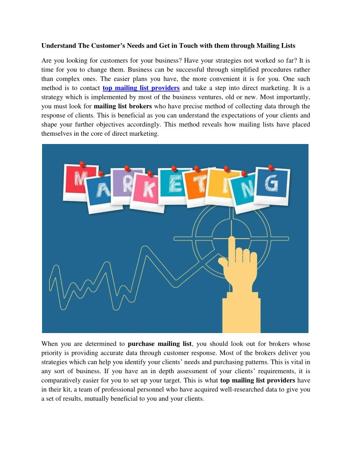 understand the customer s needs and get in touch n.