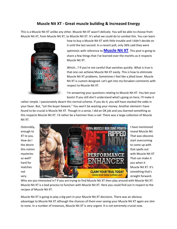 muscle nit xt great muscle building increased n.
