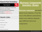 electronic components inventory resion