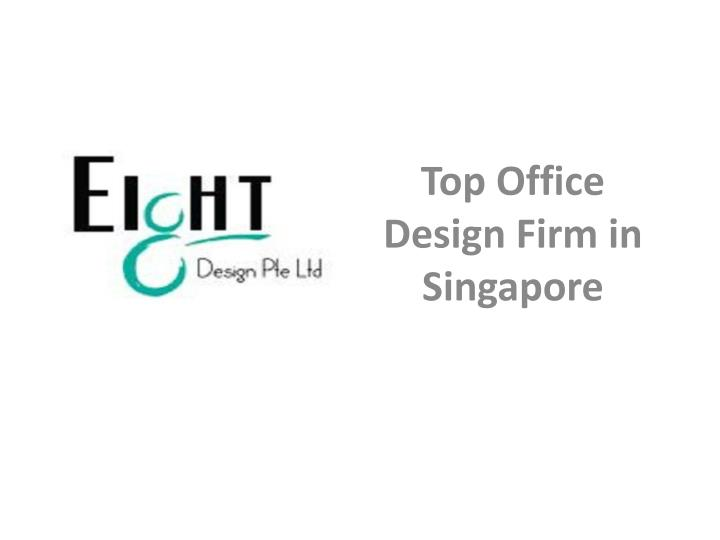 top office design firm in singapore n.