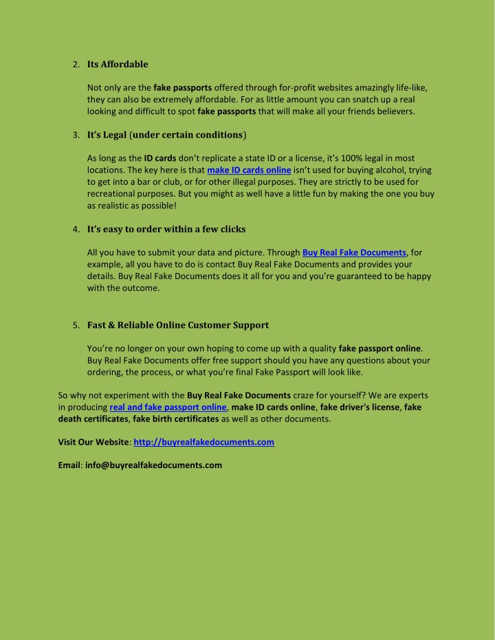 ppt 5 reasons to buyfake passports online powerpoint