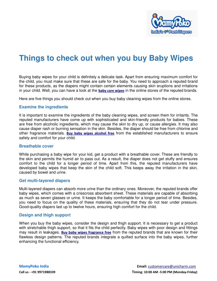 things to check out when you buy baby wipes n.