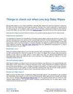 things to check out when you buy baby wipes