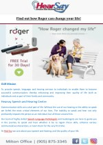 find out how roger can change your life