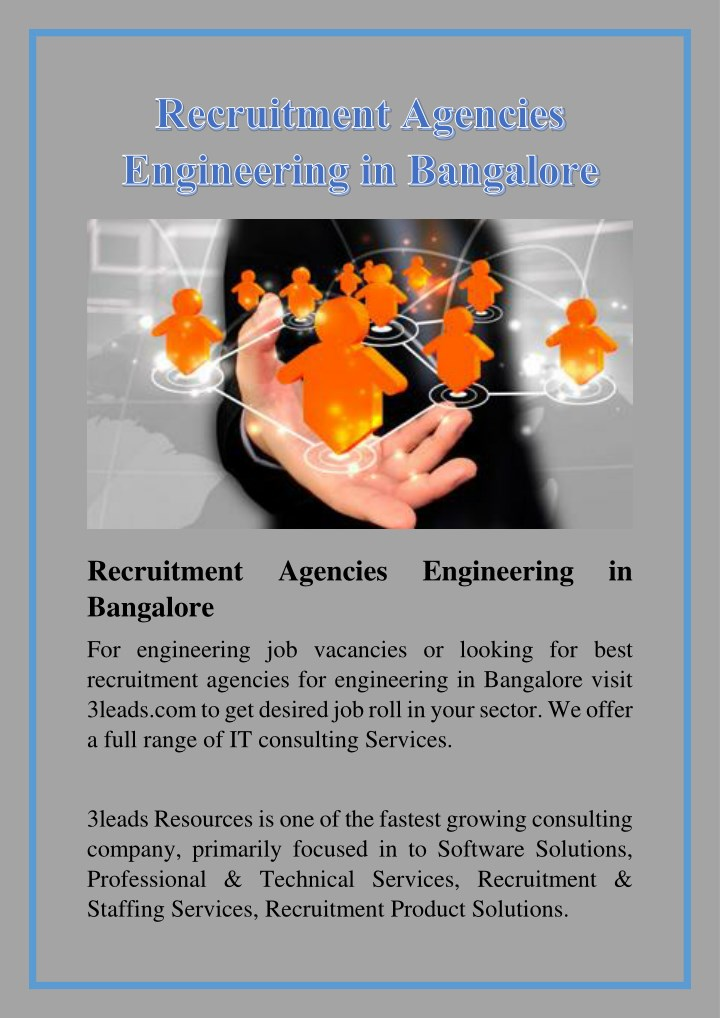 recruitment bangalore n.