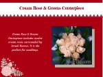 cream rose greens centerpiece cream rose greens