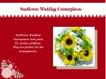 sunflower wedding centerpieces sunflower wedding