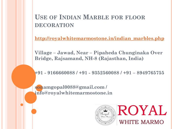use of indian marble for floor decoration n.
