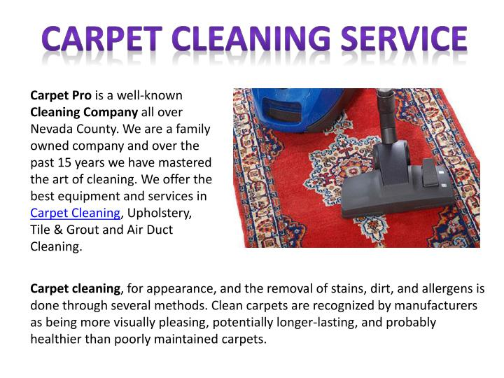 carpet cleaning service n.
