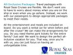 all inclusive packages travel packages with royal