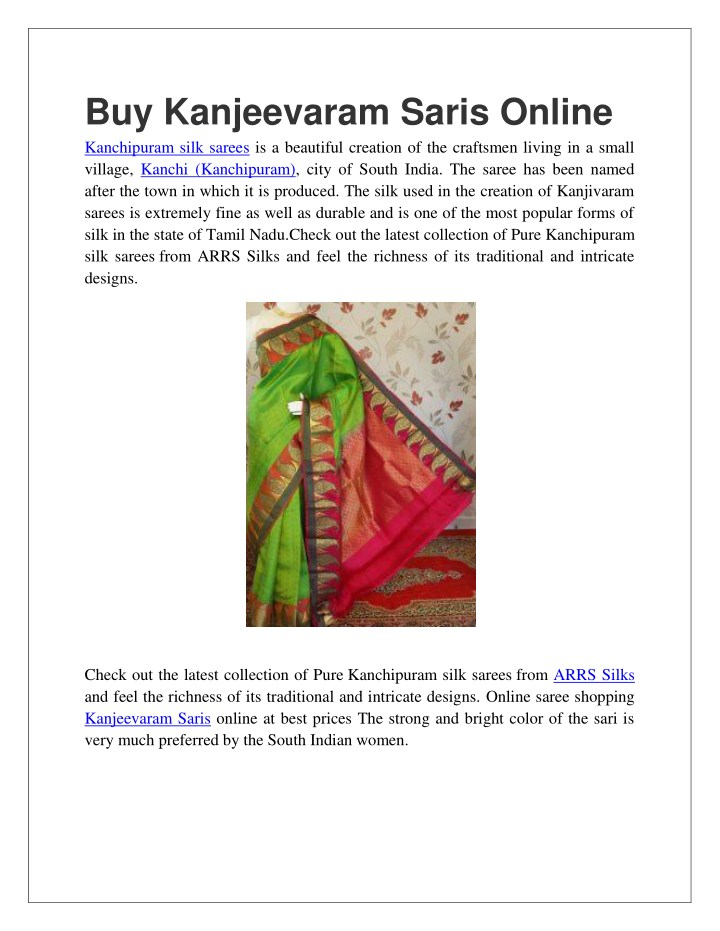 buy kanjeevaram saris online kanchipuram silk n.