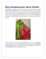 buy kanjeevaram saris online kanchipuram silk