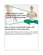 how to choose a good health facility with trusted