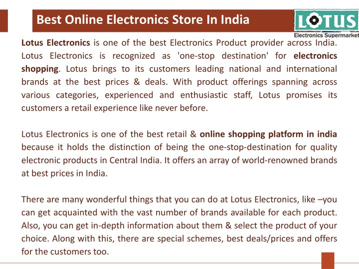 best online electronics store in india n.