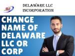 delaware llc incorporation