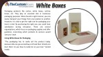 packaging products like carton white boxes