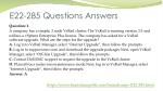 e22 285 questions answers 1