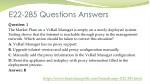 e22 285 questions answers