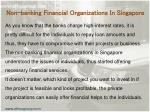 non banking financial organizations in singapore