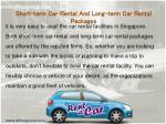 short term car rental and long term car rental