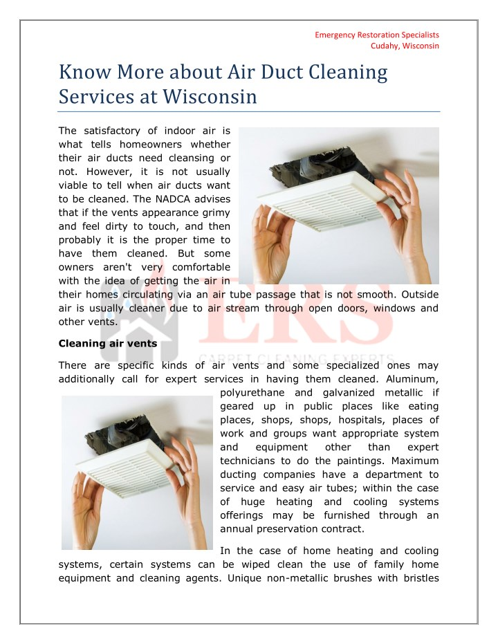 emergency restoration specialists cudahy wisconsin n.