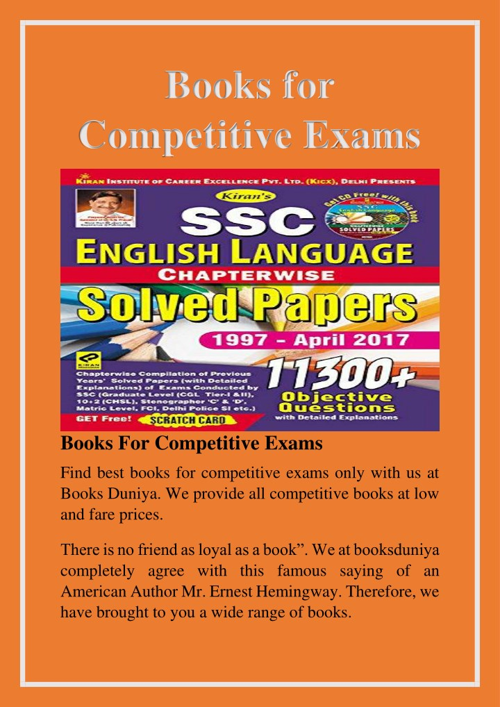 books for competitive exams n.