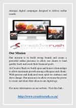 strategic digital campaigns designed to deliver