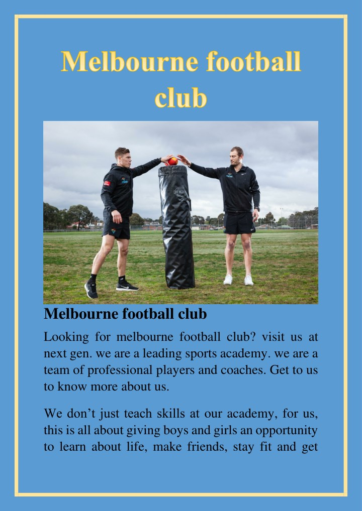 melbourne football club looking for melbourne n.