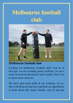 melbourne football club looking for melbourne