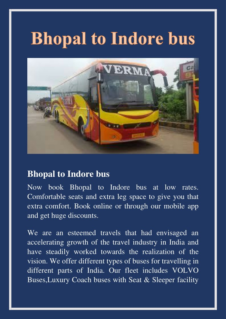 bhopal to indore bus n.