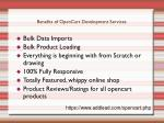 benefits of opencart development services