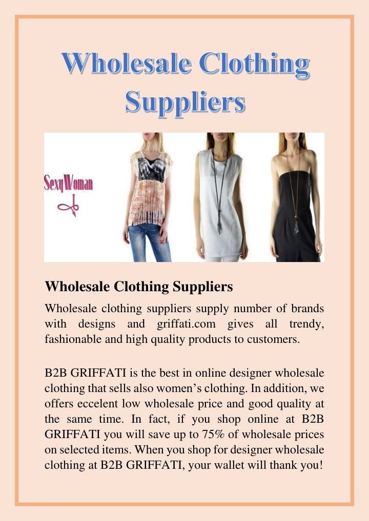 wholesale clothing suppliers n.