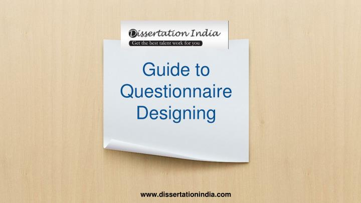 guide to questionnaire designing n.