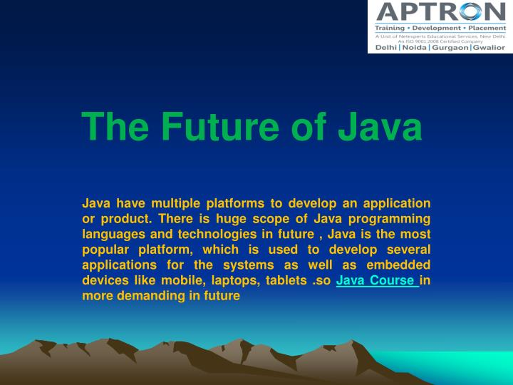 the future of java n.