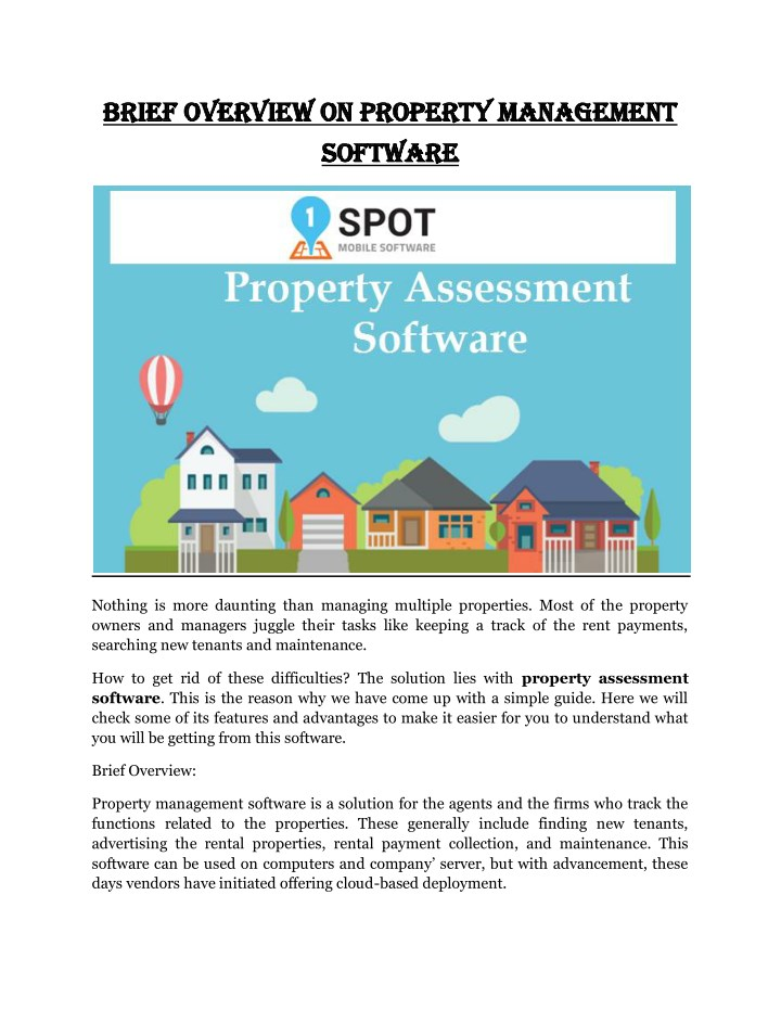 brief overview on property management brief n.