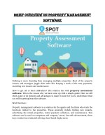 brief overview on property management brief